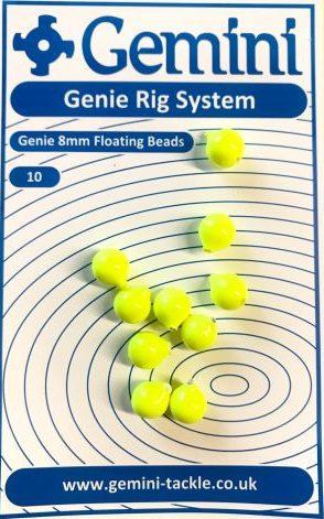 100/'s Gemini Genie Rig System Genie 4mm Fluo Rig Beads